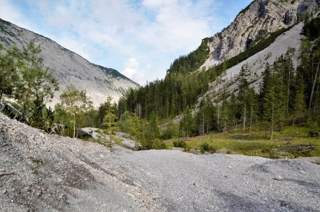 Geröllfelder Berge Stallental