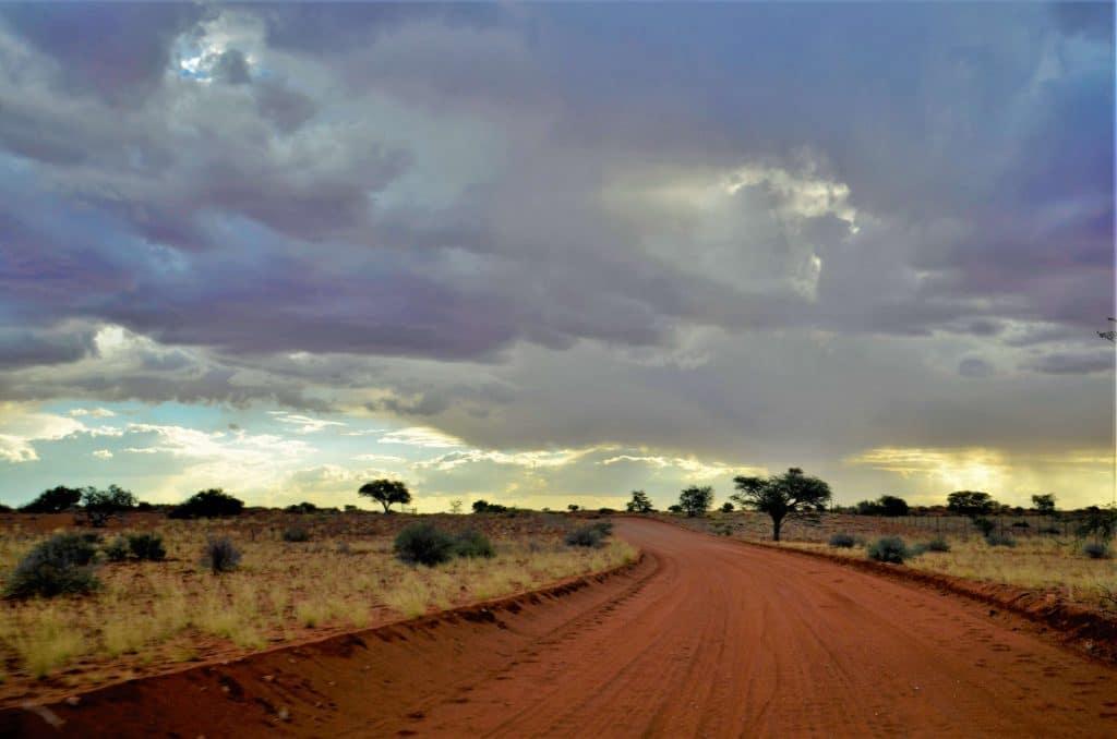 Auf dem Weg in die Kalahari