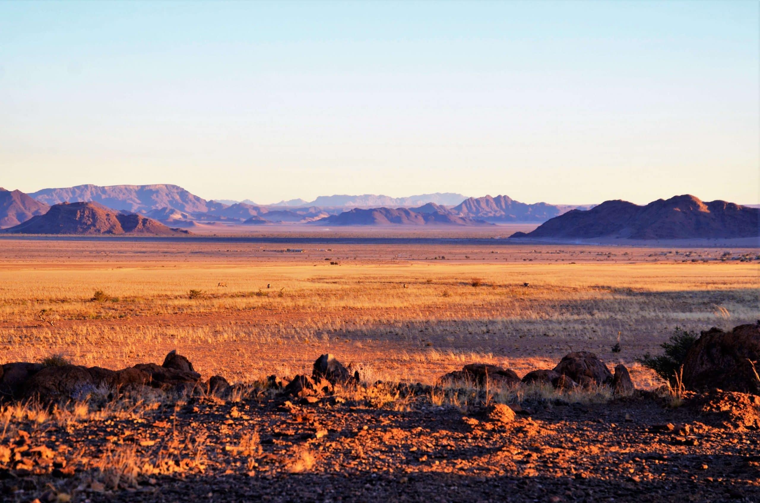 Sonnenuntergang über der Namib