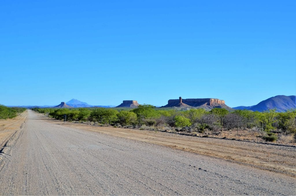 Tafelberge im Ugab Tal