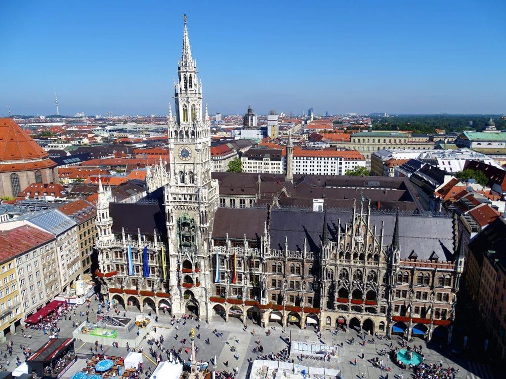 Ausblick vom Alten Peter - Rathaus von München