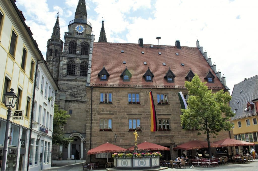 Altes Stadthaus in Ansbach