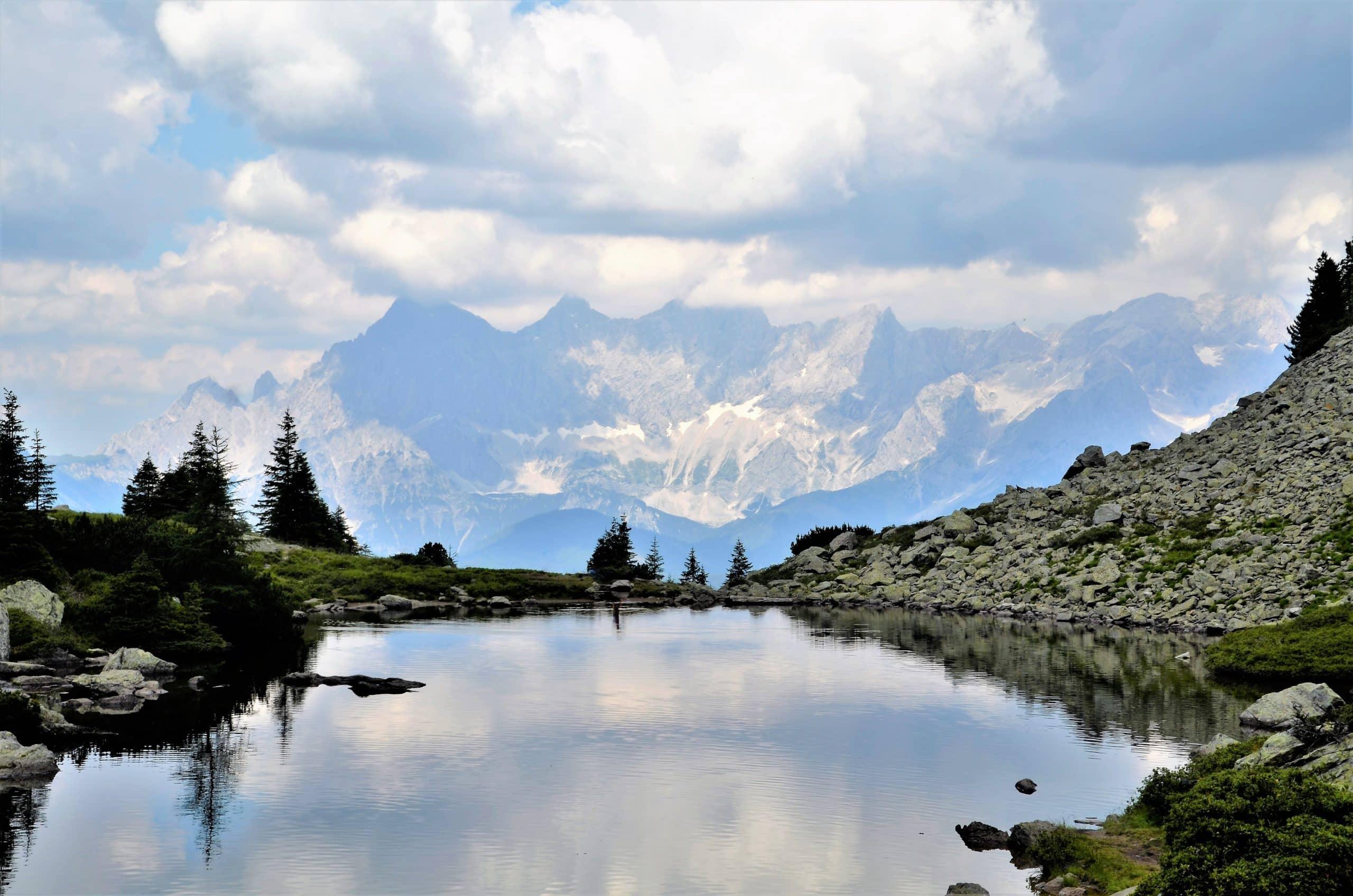 Panoramablick vom Spiegelsee