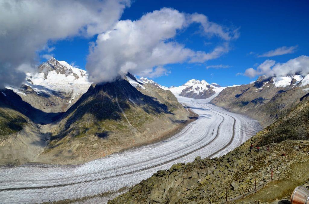 Aletschgletscher in der Schweiz