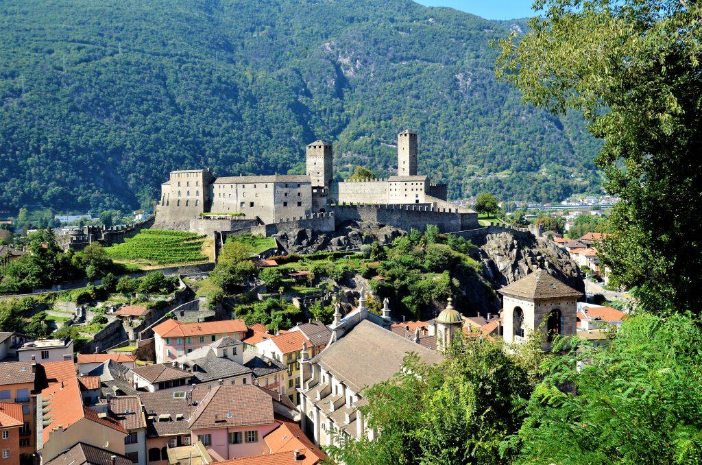 Blick über die Altstadt von Bellinzona Sehenswürdigkeiten