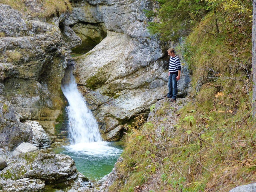 Auf dem Weg zum Kuhflucht-Wasserfall