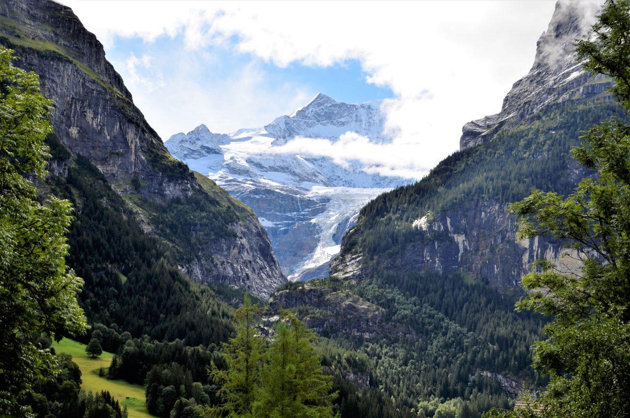 Gletscher am Schreckhorn