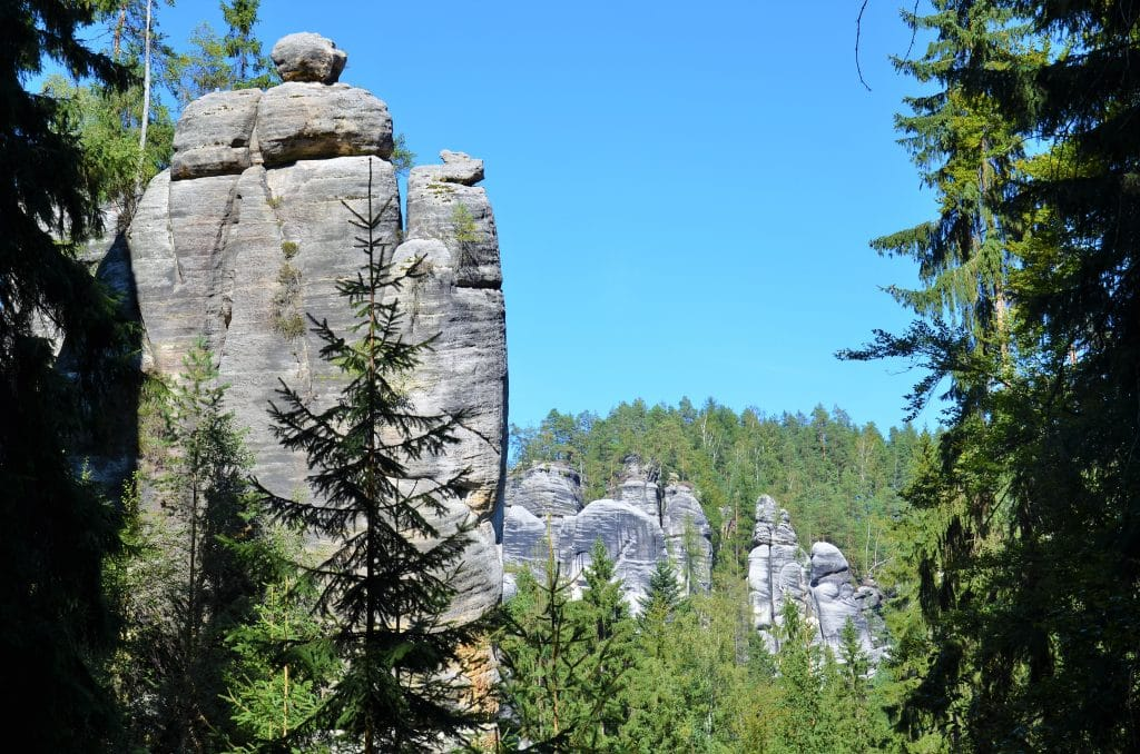 Imposante Felsformationen von Adrspach