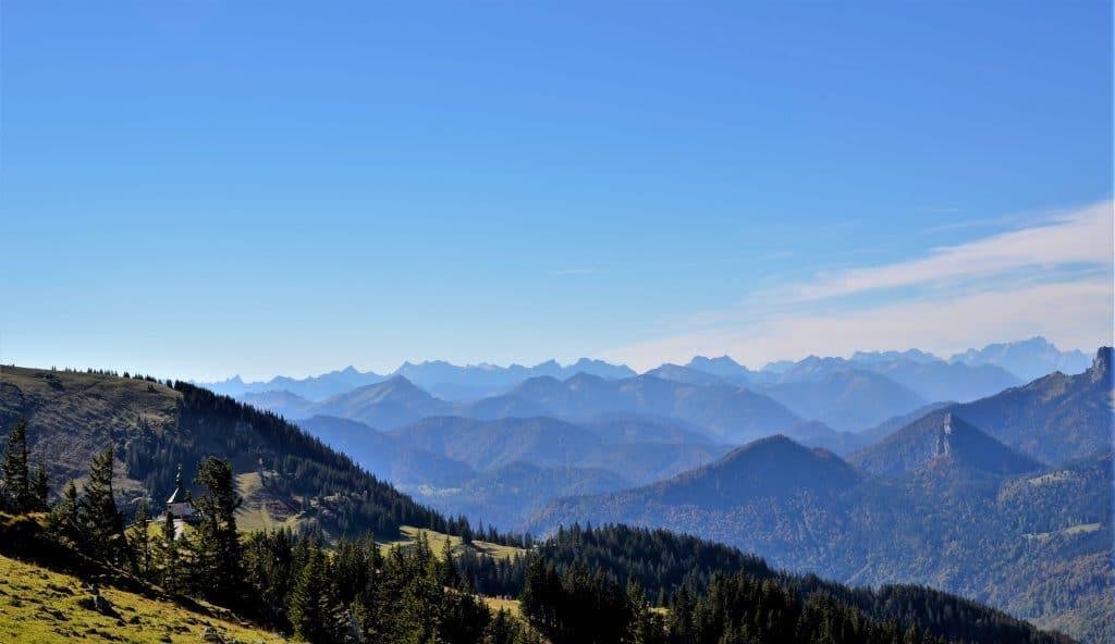 Aussicht Gipfel Wallberg