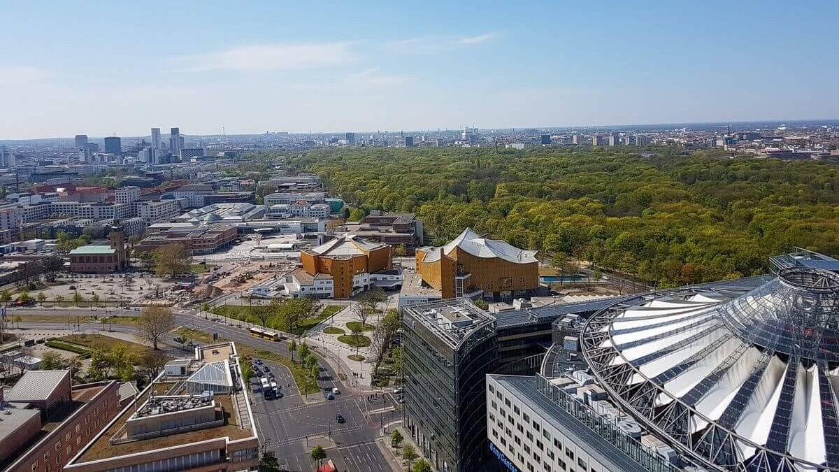 Ausblick vom Panoramapunkt Berlin