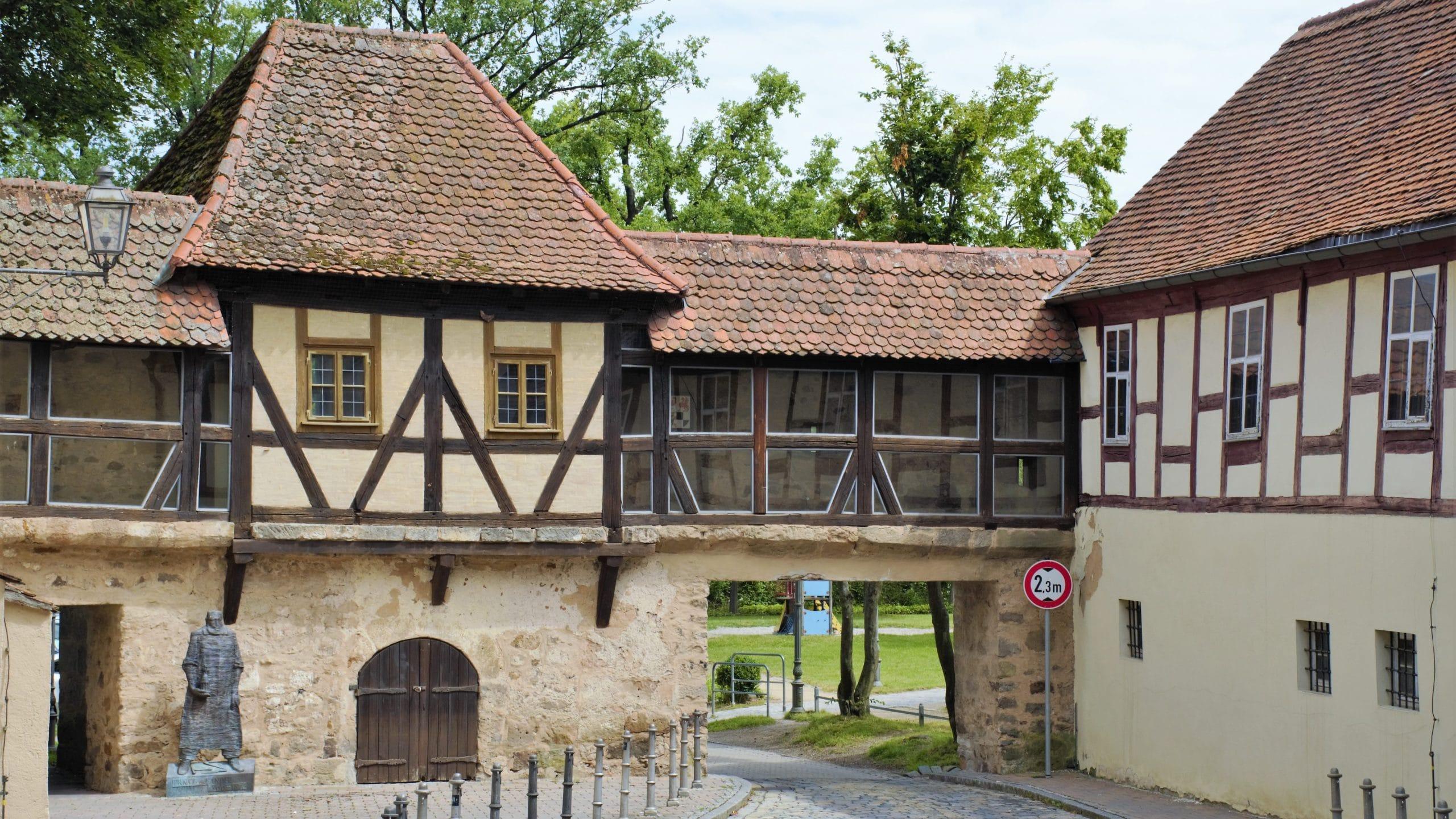 Mittelalterliche Stadtmauer am Markgrafen Museum