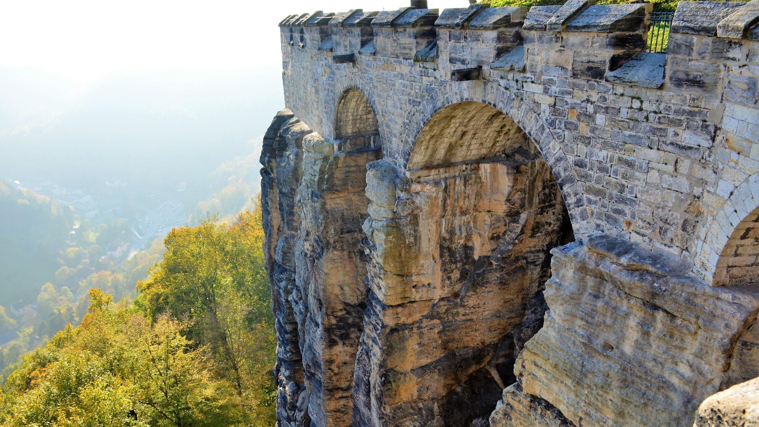 Mauern der Festung Königstein