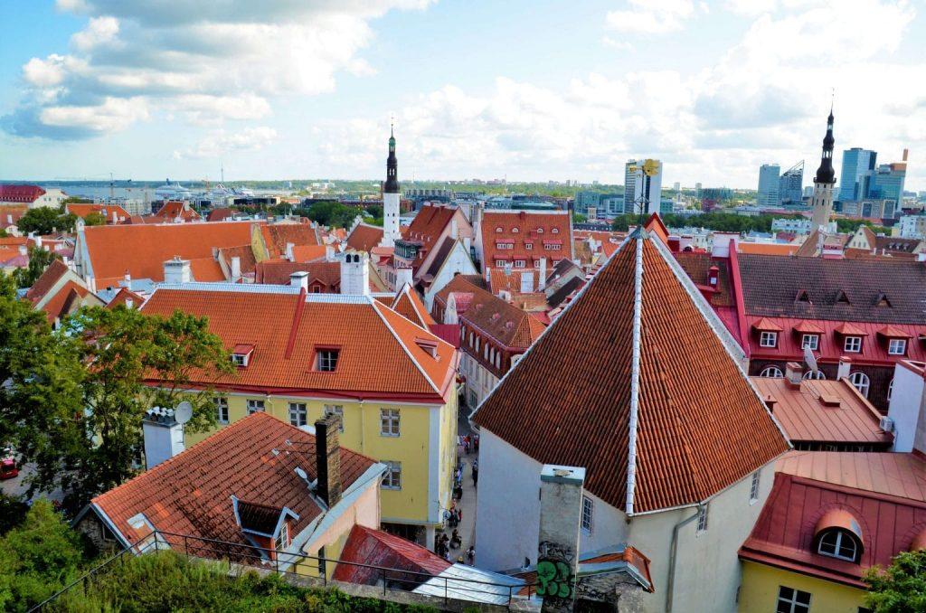 Blick über die Tallinn Sehenswürdigkeiten