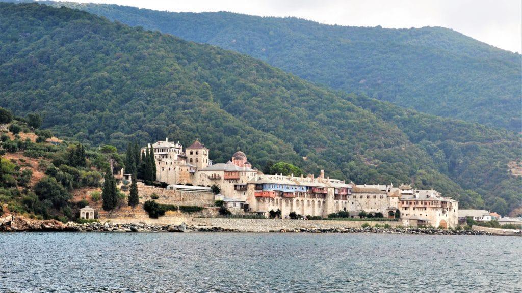 Kloster auf der Athos Halbinsel