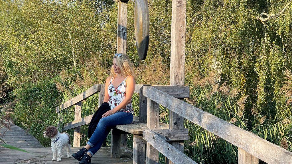 Kurze Pause auf der Gongbrücke