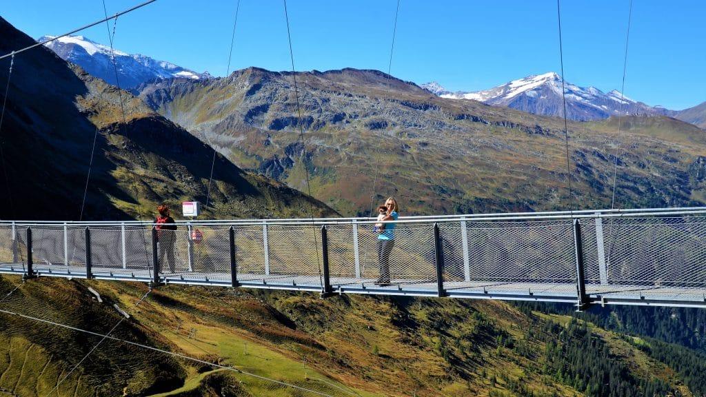 Die Hängebrücke auf dem Stubnerkogel