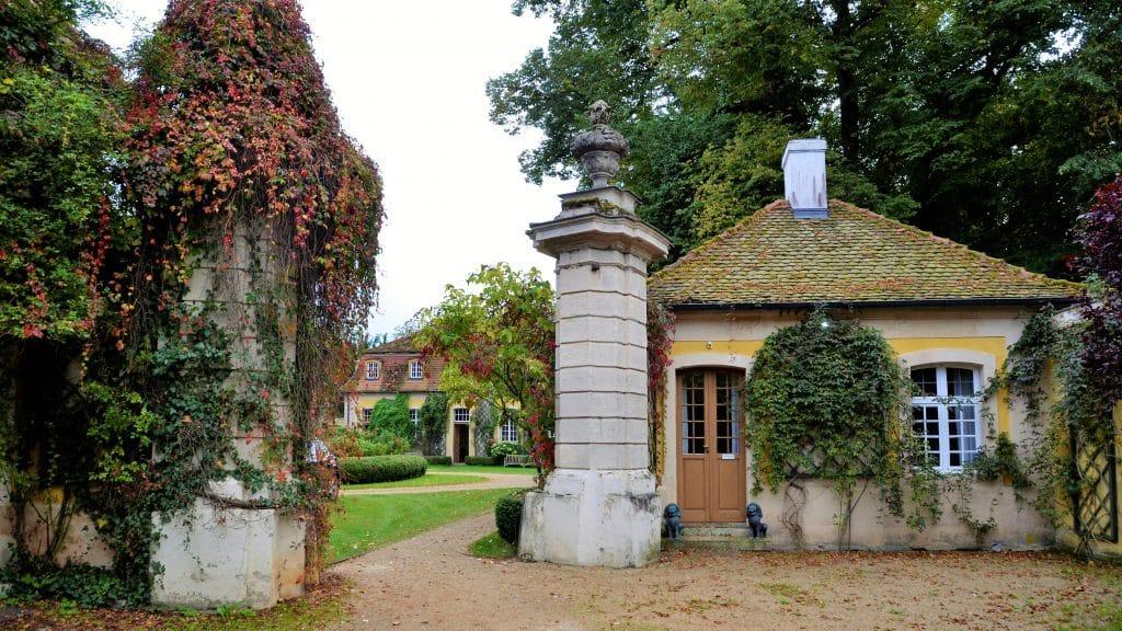 Auf dem Weg zum Schloss Dennenlohe