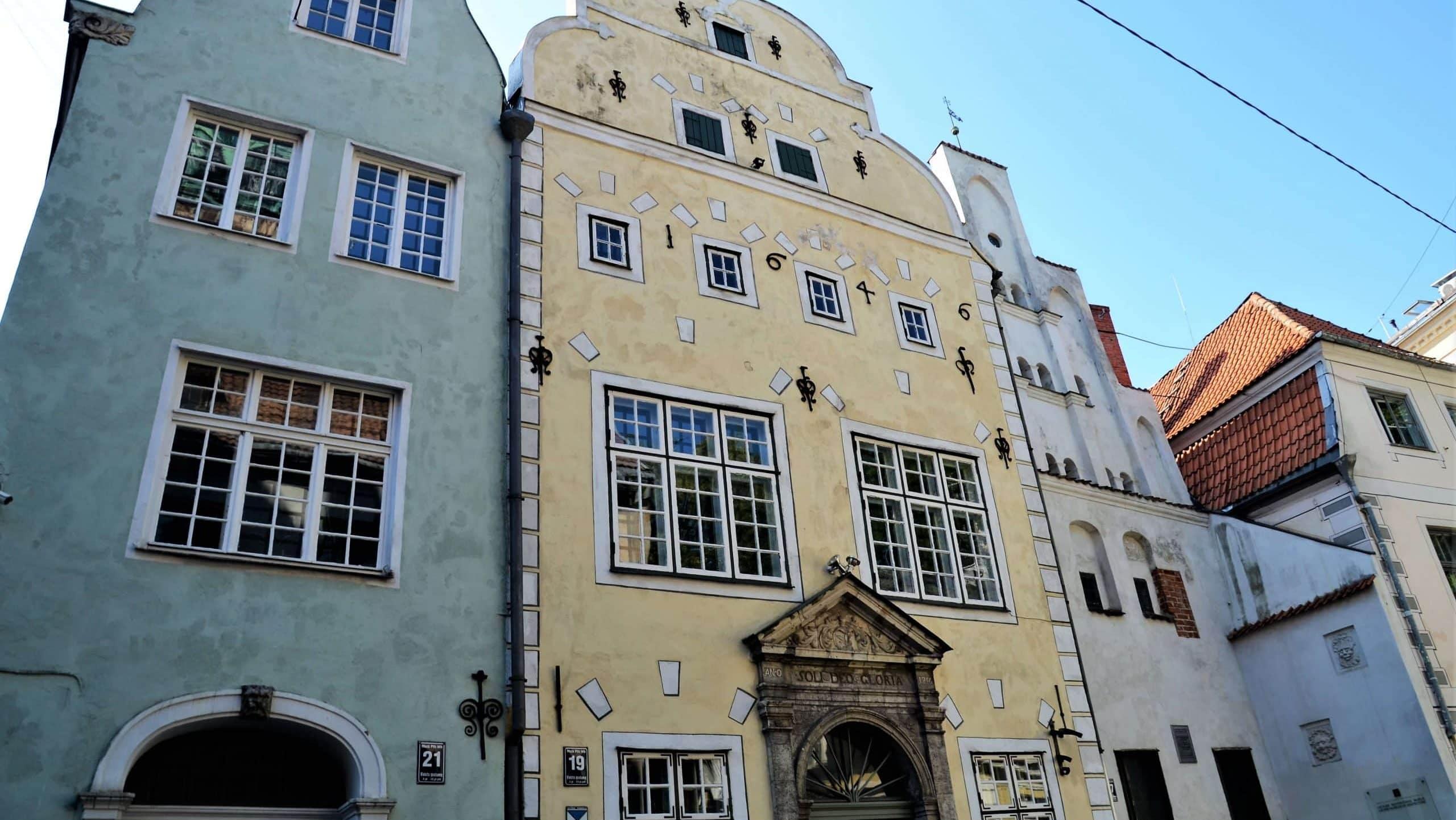 Die drei Brüder in der Altstadt von Riga