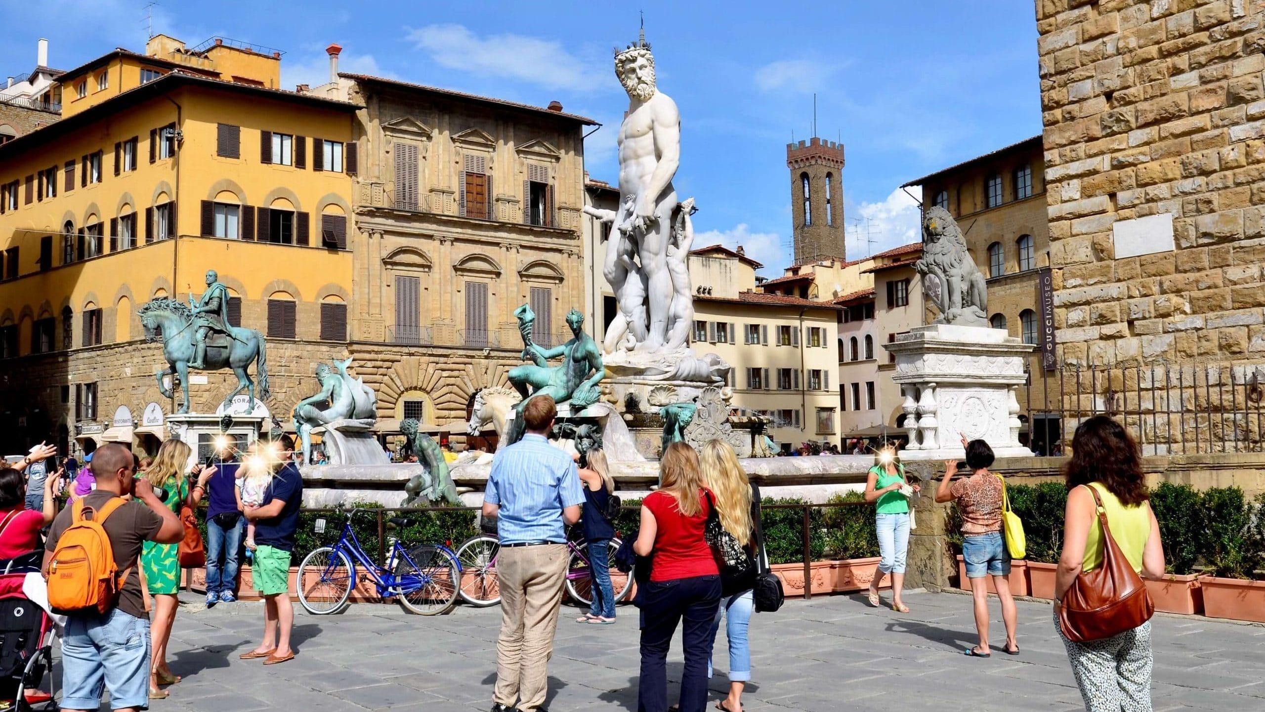 Sehenswürdigkeiten Florenz Neptunbrunnen auf der Piazza della Signoria