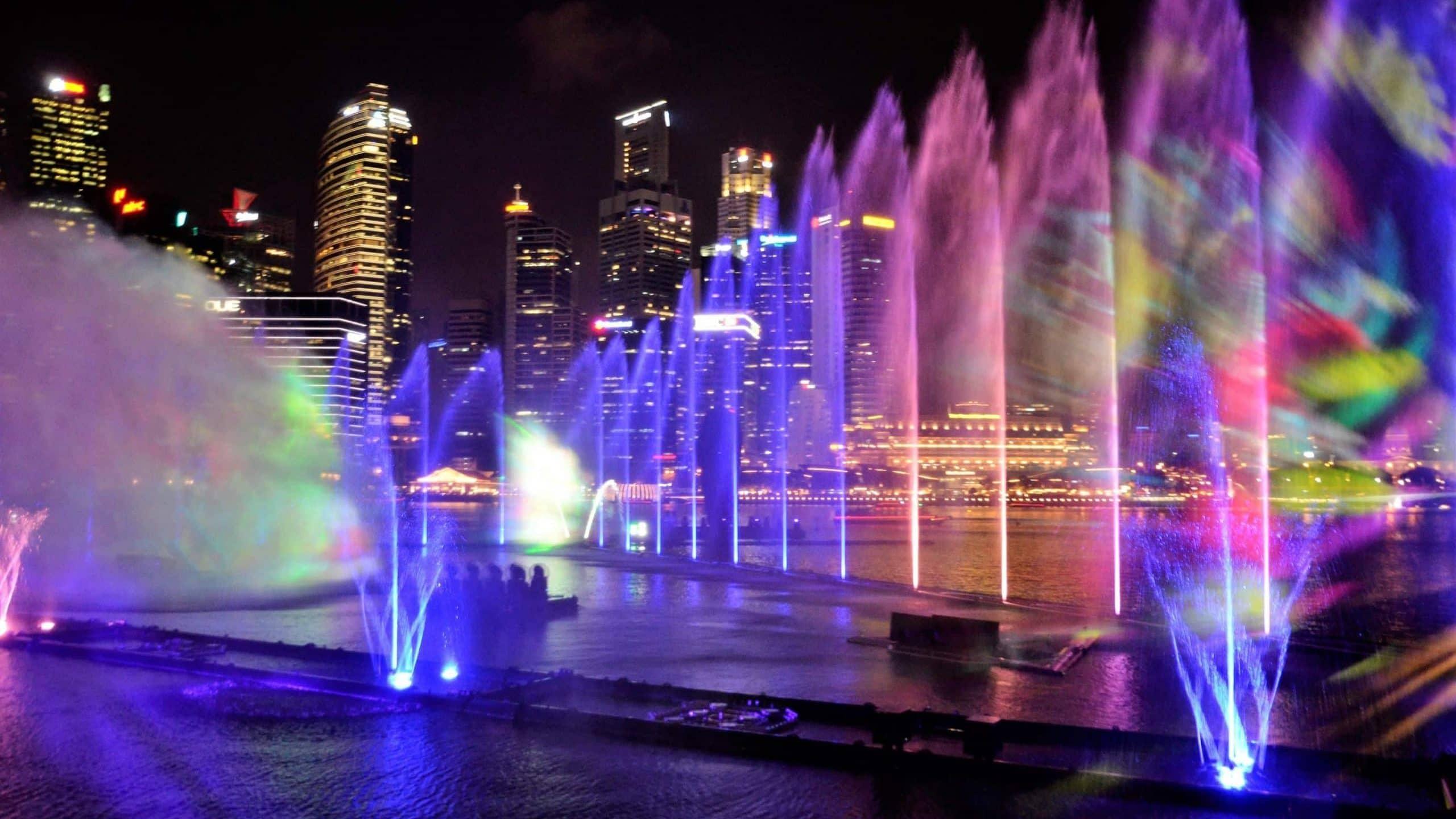 Lightshow des Marina Bay Sands