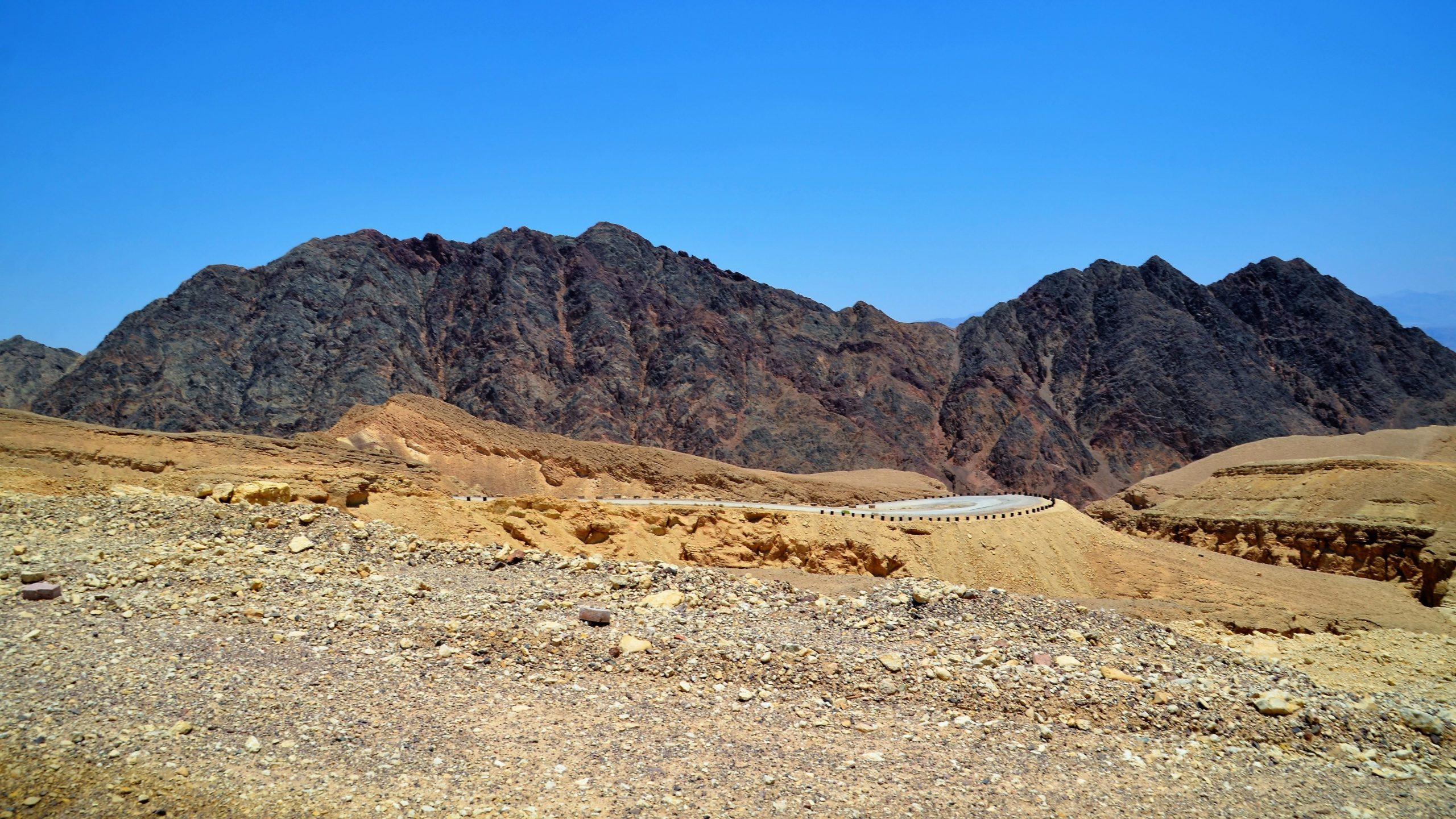 Blick auf die jordanischen Berge kurz vor Eilat
